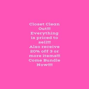 Closet Clean Out!!!!
